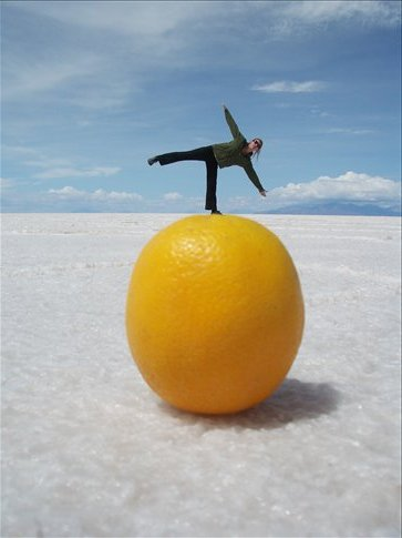 Salar Del Uyuni, Salt and Oranges?