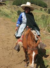 Our indigenous guide on our horse ride to the bridge of the Incas.: by nigelb, Views[185]