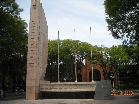 monument to the 33 men who helped Uruguay to be liberated