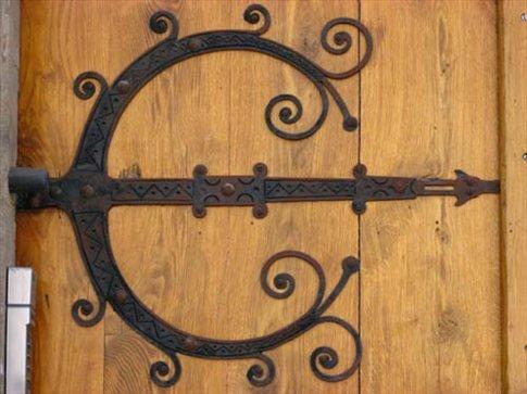 Wrought Iron Door Hinge Main Church In Skovde Beautiful
