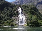 Here's another waterfall picture which I took from the boat in Milford sound.: by paul_byrom, Views[140]