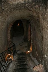 Deep below Roberto's restaurant is an old grotto - possibly an old pathway to the castle.: by paulinep, Views[177]
