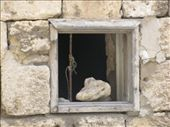 Nice window pic - a stone put here to get air: by pecosbiff, Views[78]