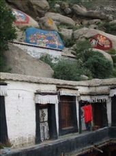 Buddhist paintings and wet clothes at Sera Monastery: by phil, Views[142]