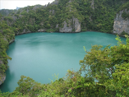 A gorgeous lagoon that could only be reached by walking up and over a steep ridge