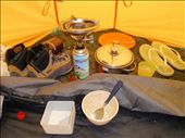 making a cuppa inside the tent in the rain: by polargirl, Views[130]