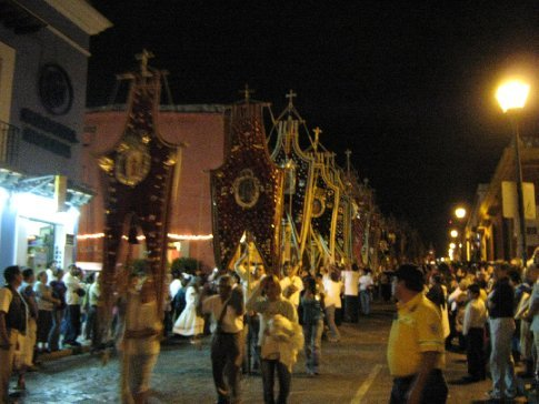 Banners in procession, Good Friday