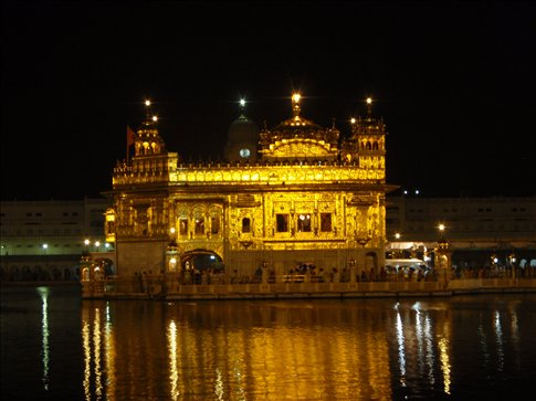 golden temple amritsar at night. The Golden Temple of Amritsar