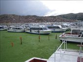 dock for boat to Uros a floating island : by rich, Views[122]