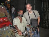 Cisco and the little man who cycled us for an hour across chaotic Dhaka for the equivalent of about 20p. He kept saying sorry because he was old and couldn't peddle as fast as the young rickshawalas. We gave him a nice tip :-): by rickshawalas, Views[192]