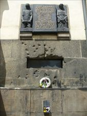 site of assissination attempt of S.S. officer Heydrich - check out the bullet holes : by romsterrom, Views[60]