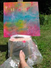 I did not get to paint as much i would have liked to, but when i did i painted outdoors on a home made chair easel. This is a work in progress that never got finished...: by royandania, Views[81]