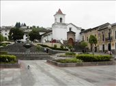 Plaza San Blas, Quito, Ecuador, my hostale on the right.: by sally-annephillips, Views[276]