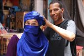 One of my favorite pictures by far, without asking, these guys just start wrapping scarves on your head, telling how badly your life must be lacking if you don't have one of these. And blue! well blue is definitely your color.: by shayna, Views[379]