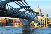 The Millennium Bridge, with St. Paul's Chapel in the background: by shrummer16, Views[64]