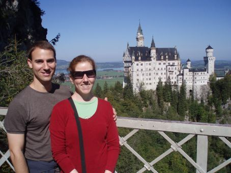 Rob and Shannon overlooking Neuschwanstein Castle