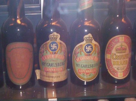 The nazi symbol was copied from an earlier nordic symbol related to the sun. Hence these beers predate anything potentially German