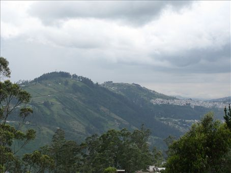 View of surrounding area of Quito, Ecuador