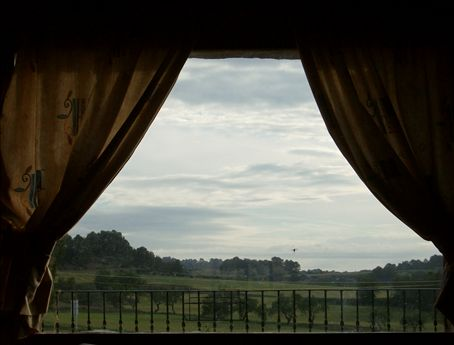 Its like a painting. Except its the view of the living room window.