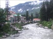 The river in Manali, we were so glad of hot water and cold beer when we got there!: by steve_and_emma, Views[237]