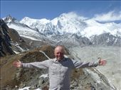 A mild day in the Himalayas, Cho Oyu is in the background, another 8,000m plus peak: by steve_and_emma, Views[29]