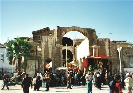 Entrance to a Souk (covered Market) in Damascus, Syria