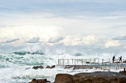 Where do the waves end and the clouds begin? - Bronte Beach, Australia - Places World Nomads Dig
