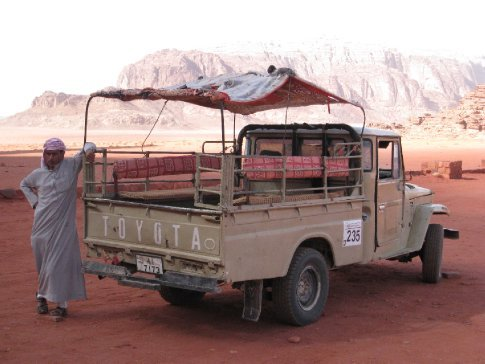 Our Bedoiun driver at Wadi Rum Desert.