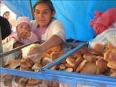 Selling bread in Ayacucho. Maybe it was the altitude, but the bread here was like chalk. Baby is happy though. : by tk-tempany, Views[236]
