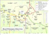 Kili Map with dates - Orange Route up and Purple down: by tony_mattravers, Views[359]
