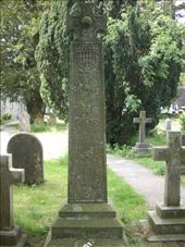 John Ruskin's grave stone (designed by WG Collingwood - RG's father and Ruskin's secretary): by tregenza_family, Views[453]