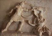 Greek warrior fighting an Amazon, Ancient Corinth: by vagabonds, Views[860]