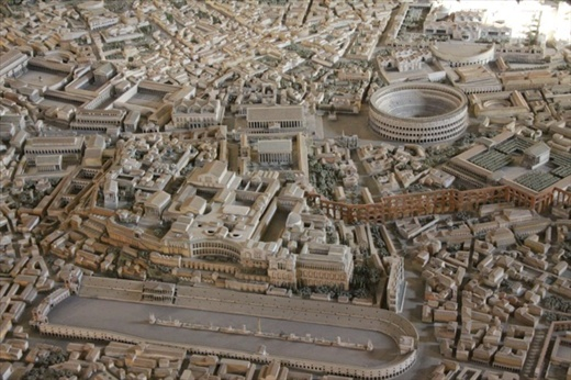 Circus Maximus And Colosseum From Model Of Rome Museo