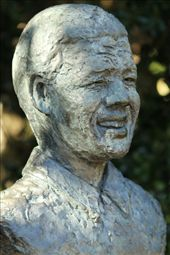 Bust of Nelson Mandela, Kirstenbosch National Botanical Garden: by vagabondstoo, Views[32]