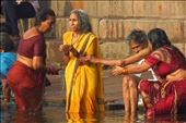 A woman taking a ritual bath at the Ganges river, India.: by viajerastresletras, Views[115]