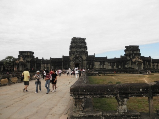 Angkor Wat - the largest religious structure in the world; you don't really get a sense of that until you're there - it feels as large as it looks