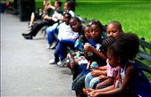 Central Park with a group of children sitting and chatting: by wangster, Views[91]