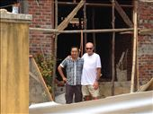 Kevin with our friend Dong at his new house he is building: by wendyandkevin, Views[31]