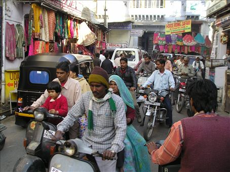 A street scene in Udaipur.