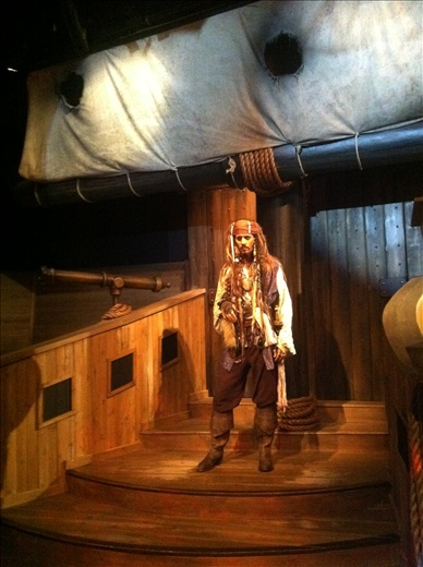 Madame Tussauds, the Jack Sparrow statue. Sorry, that's CAPTAIN Jack Sparrow.